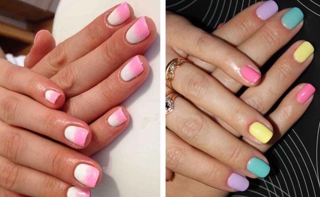 яркий дизайн ногтей шеллак