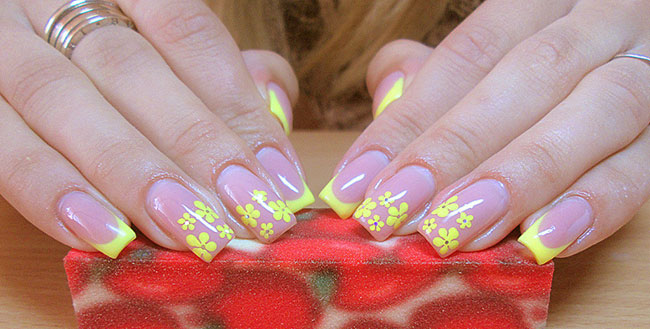 желтые цветы шеллак