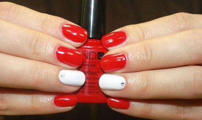 шеллак дизайн красный и белый