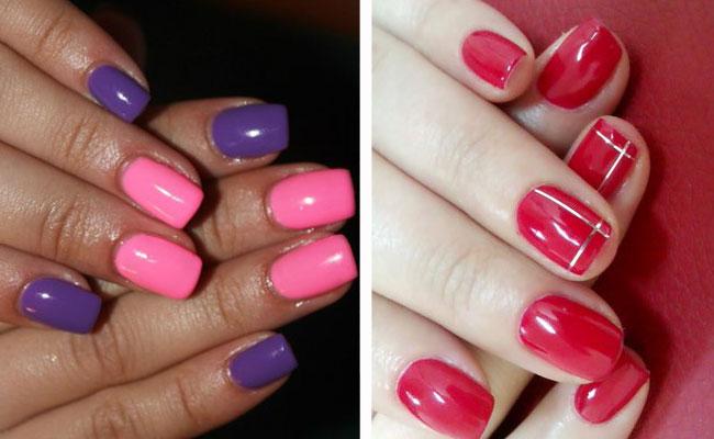 розовый в сочетании с  фиолетовым шеллак