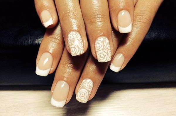 Пастельный рисунок на ногтях гель лаком