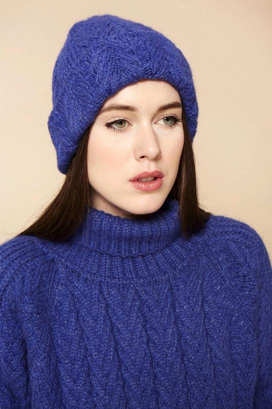 Модная вязанная шапка  осень-зима 2015-2016