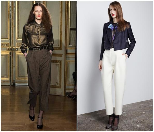 Модные широкие брюки осень зима 2015-2016