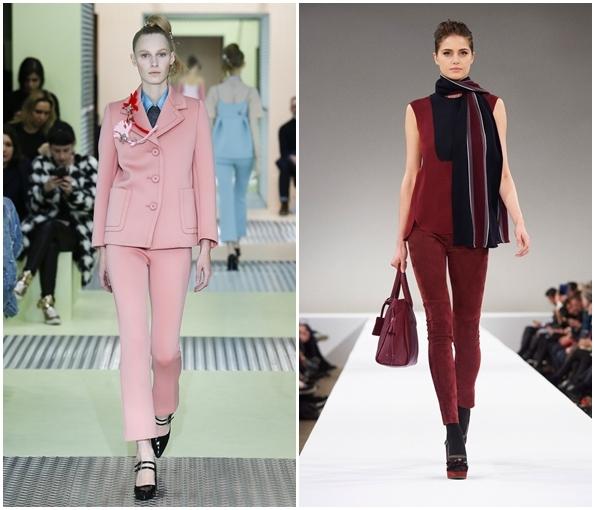 Укороченные брюки-капри осень-зима 2015-2016