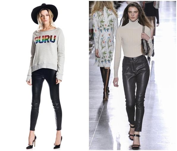 Модные кожаные брюки осень-зима 2015-2016