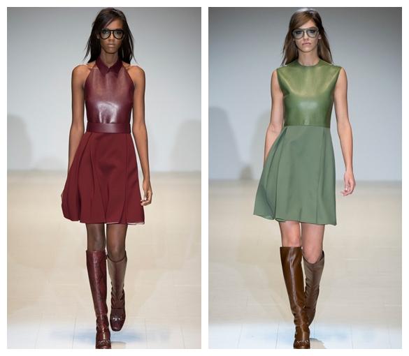 Кожаные платья осеньзима 2015-2016