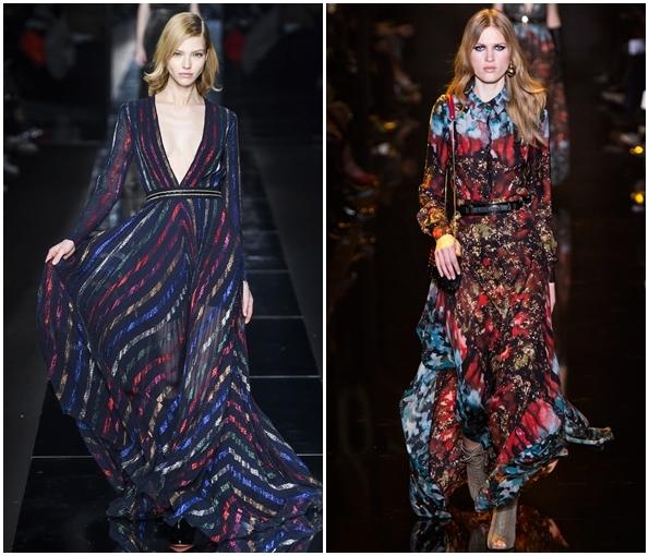 Роскошные длинные платья осень-зима 2015-2016
