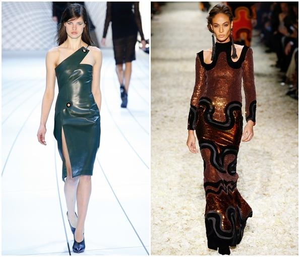 Платья с кожей 2015 фото