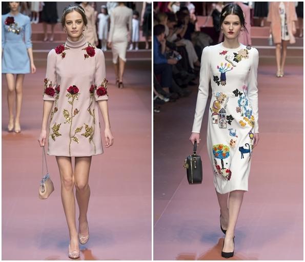 Модные расцветки  платьев осень-зима 2015-2016