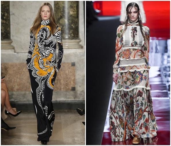 Длинные платья осень-зима 2015-2016