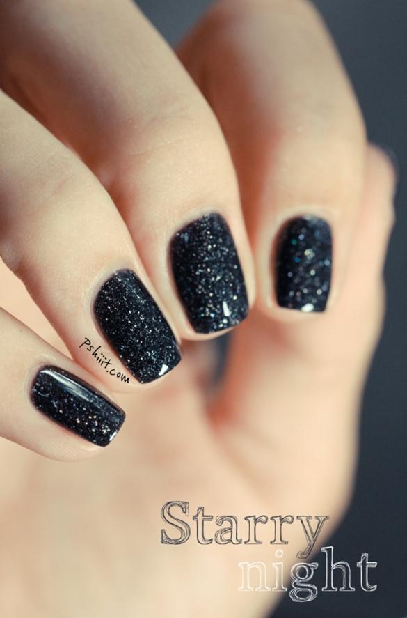 Покрытие черный ШЕЛЛАК на ногтях ФОТО 2014 19