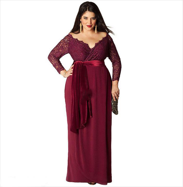 Новогоднее платье  для полных женщин 2016