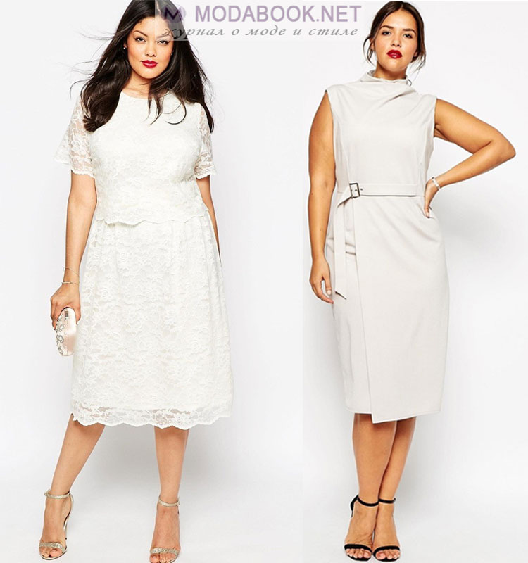 Белые платья для полных девушек 2017