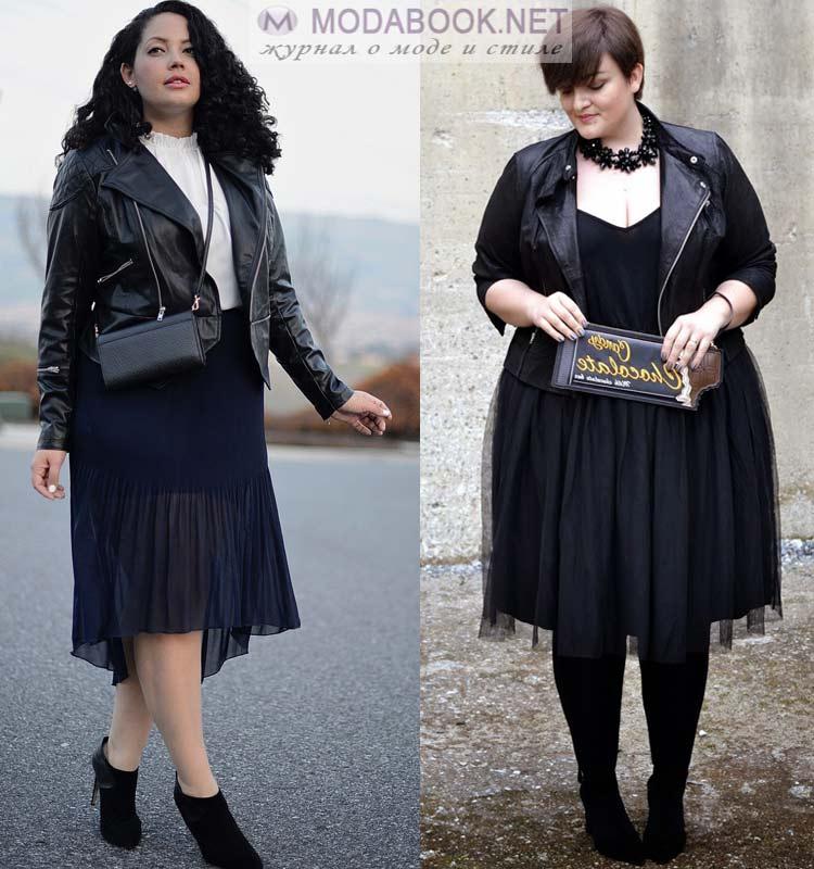 eb714735fa1 Романтичная блуза и кожаная юбка — идеальное сочетание 2019 года для  крупных девушек.
