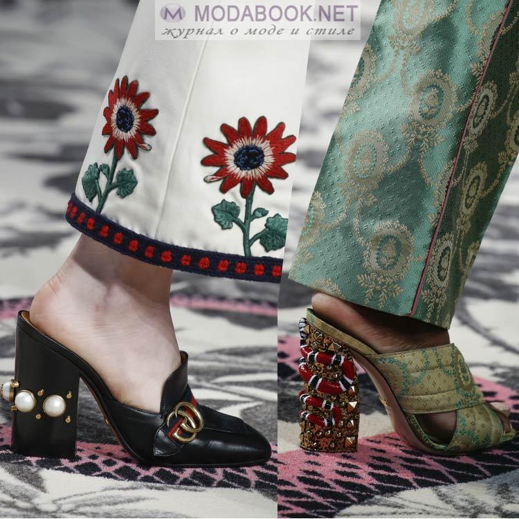 Мода весна-лето 2018-обувь