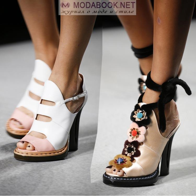 Мода весна-лето 2016-обувь на устойчивом каблуке