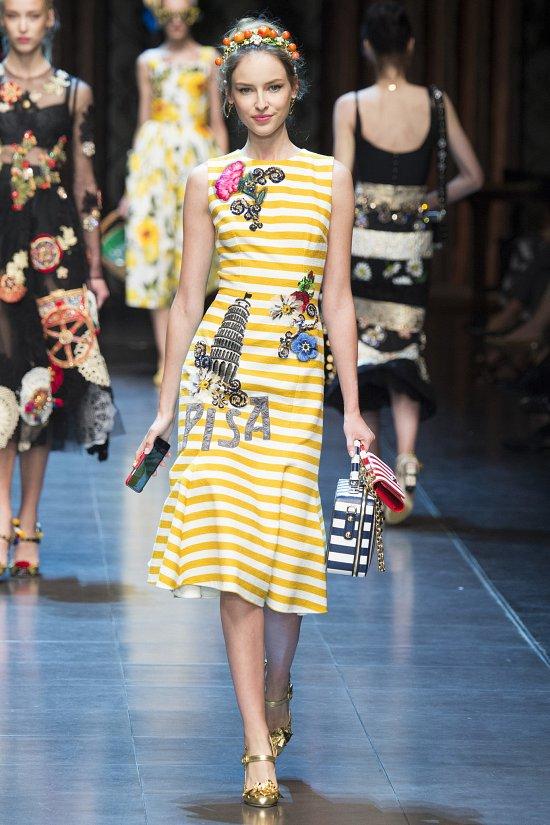 Модная полоска в моде весной и летом 2016 года