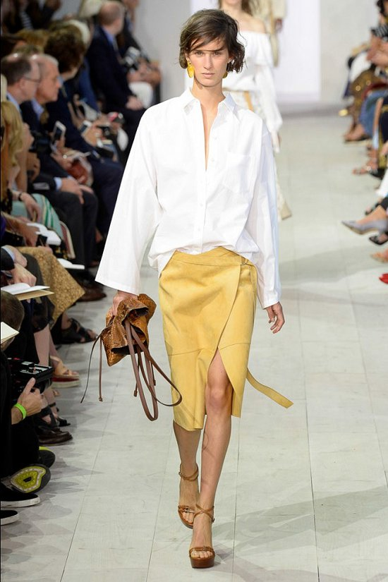 Юбка на запах в модном сезоне весна лето 2016