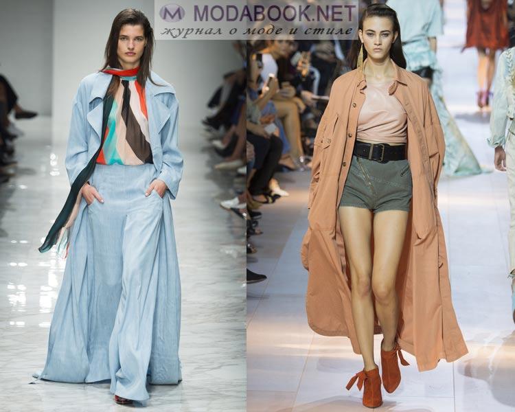 Модные длинные плащи весна лето 2016
