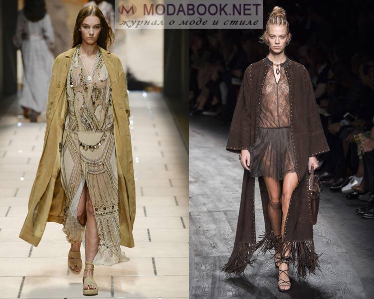 Модные плащи из кожи и замши весна 2016