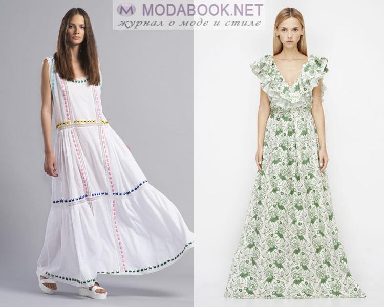 Женские летних платьев с воланами фото
