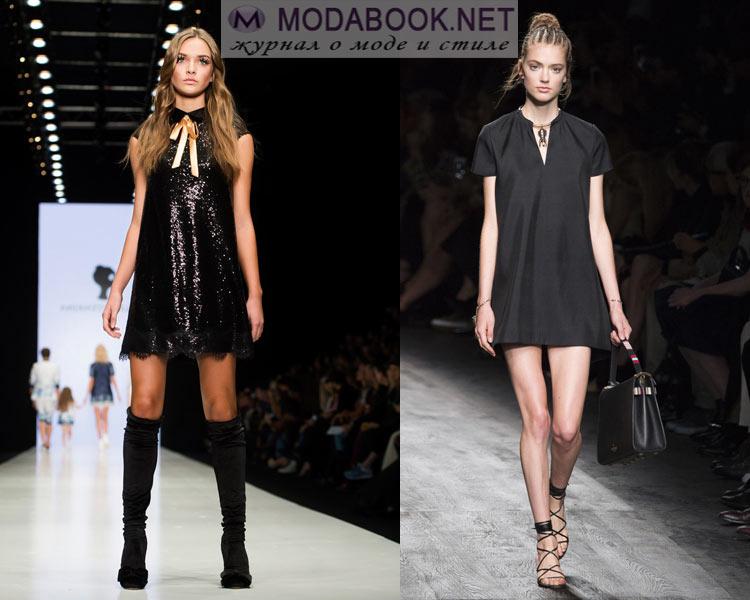 Модные маленькие черные  платья весна лето 2016