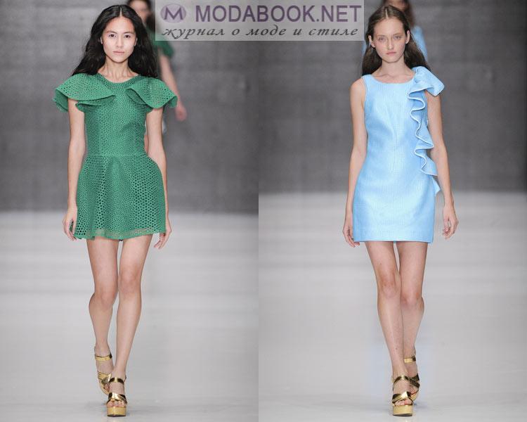 Модные платья с воланами весна лето 2016