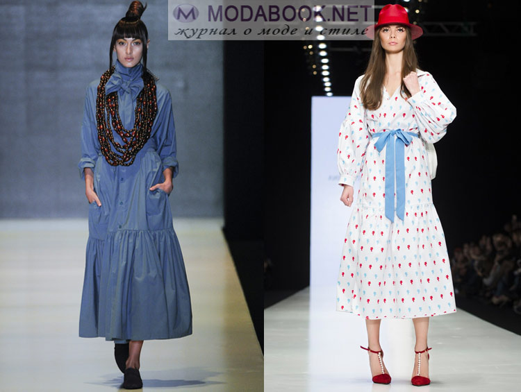Модные платья с длинным рукавом весна лето 2016