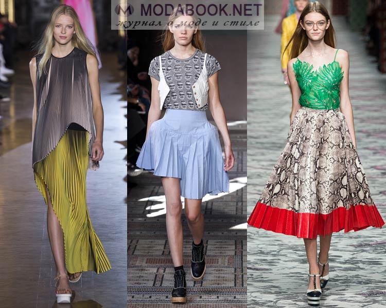 Плиссированные юбки модели