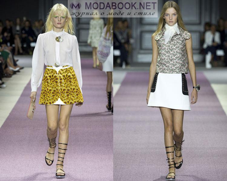 Модные юбки трапеции весна лето 2016