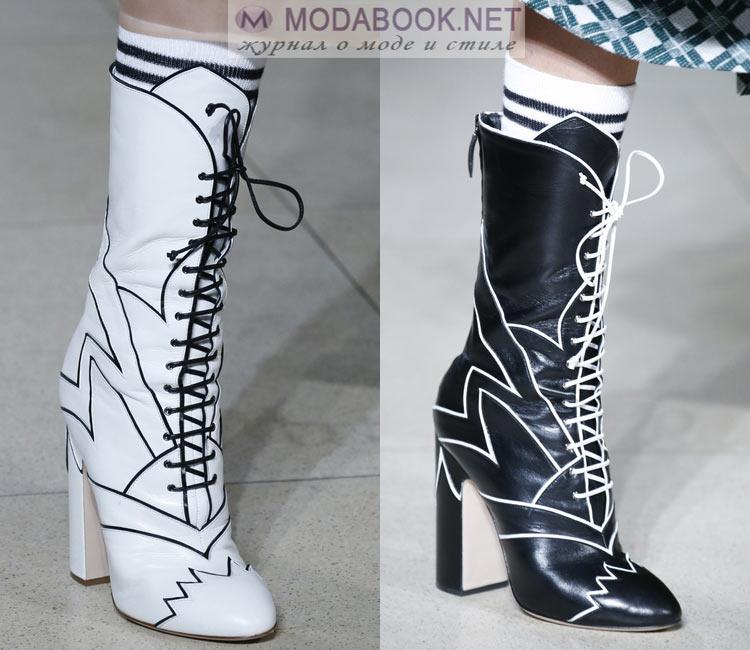 Модные ботильоны на шнуровке 2018