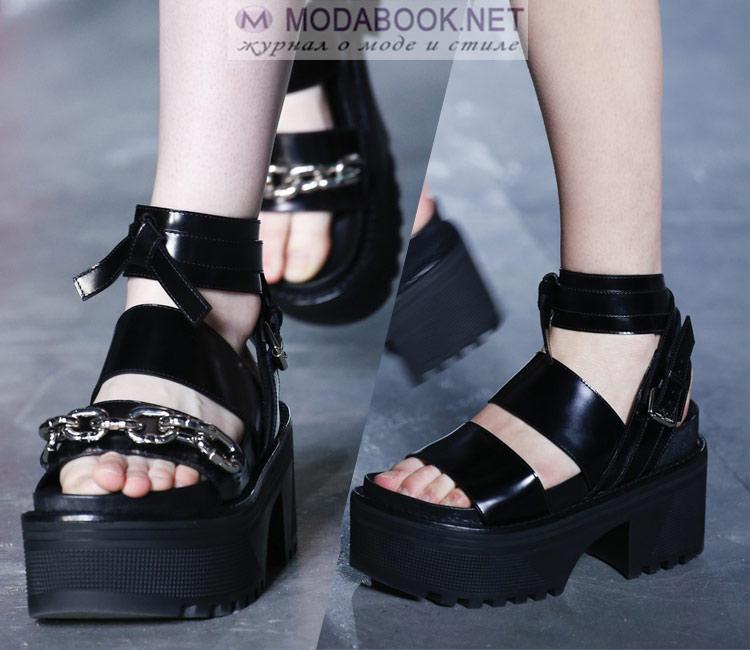 Обувь на платформе весна лето 2018
