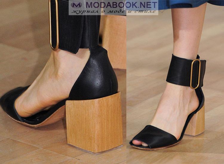 Модная обувь с пряжкой 2018