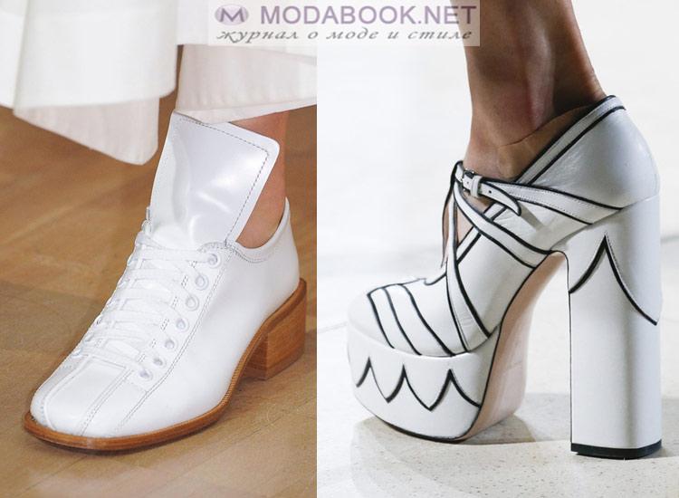 Черно-белая обувь весна-лето 2018