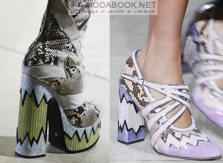Обувь с имитацией рептилий  весна лето 2018