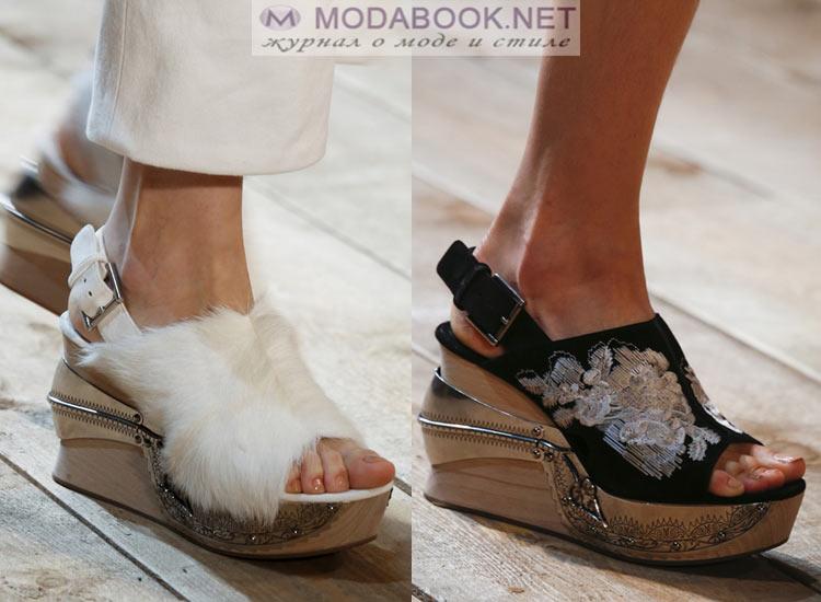 Обувь на танкетке весна лето 2018