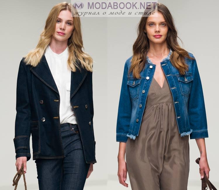 Модные куртки весна лето 2016: джинса