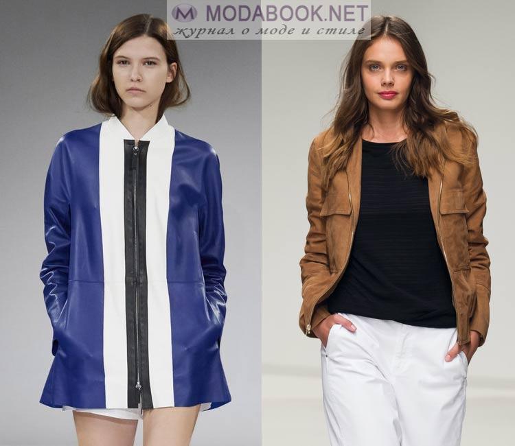 Модные куртки из кожи весна лето 2016