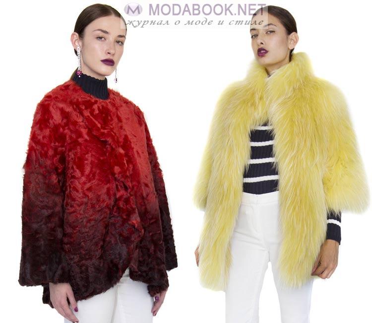 Модные куртки из меха на весну 2016