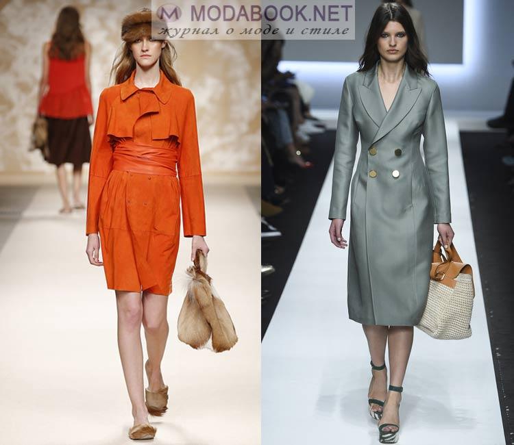 Модное пальто-тречкот весна 2016