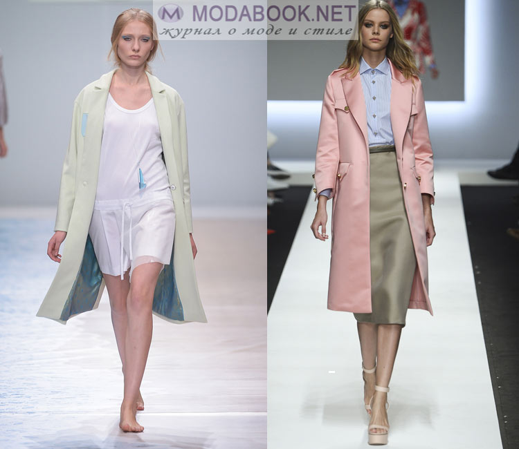 Модные пальто весна 2016:пастельная гамма