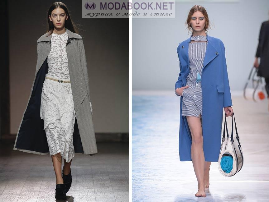 Модные драповые пальто весна 2016