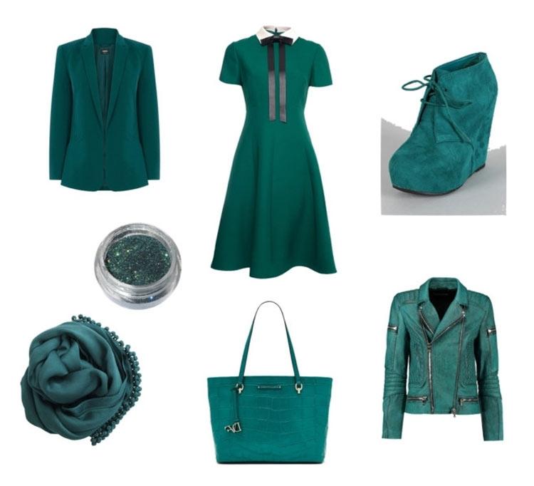 Темно-бирюзовый: модные цвета весна лето 2016