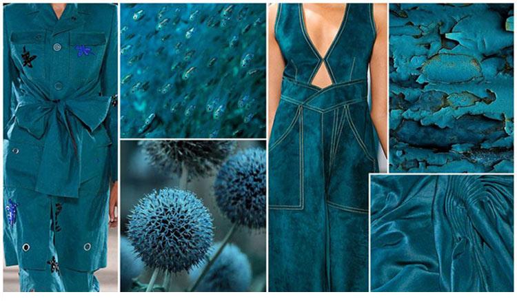 Модные цвета весна лето 2016 темно-бирюзовый