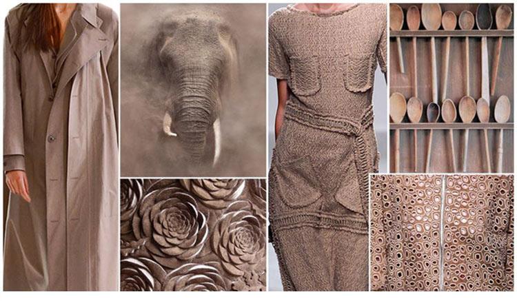 Модные цвета весна лето 2016 - серо-коричневый