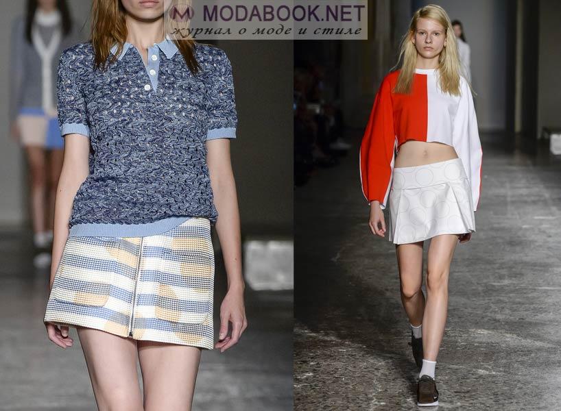 Модные короткие мини-юбки 2016