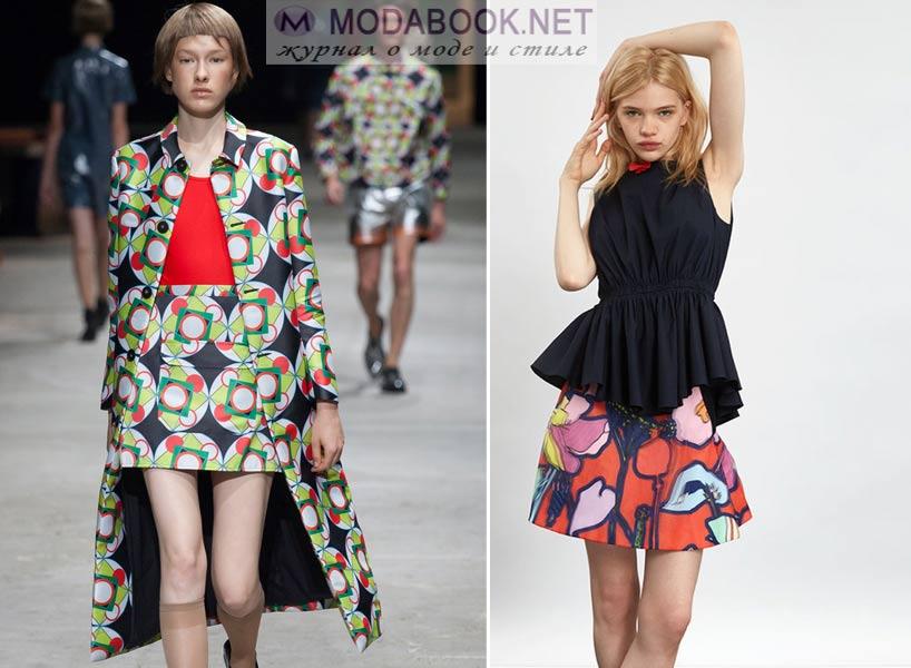 Яркие мини-юбки 2016