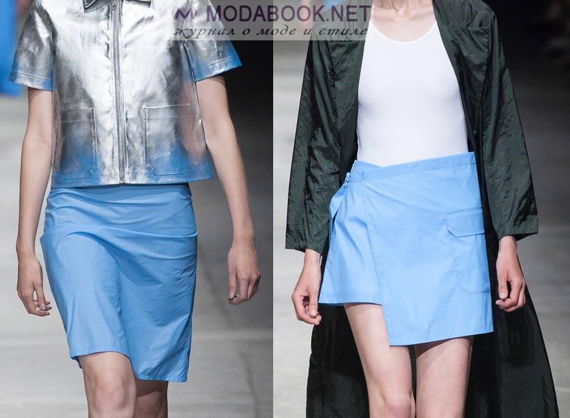 Голубые мини-юбки 2016