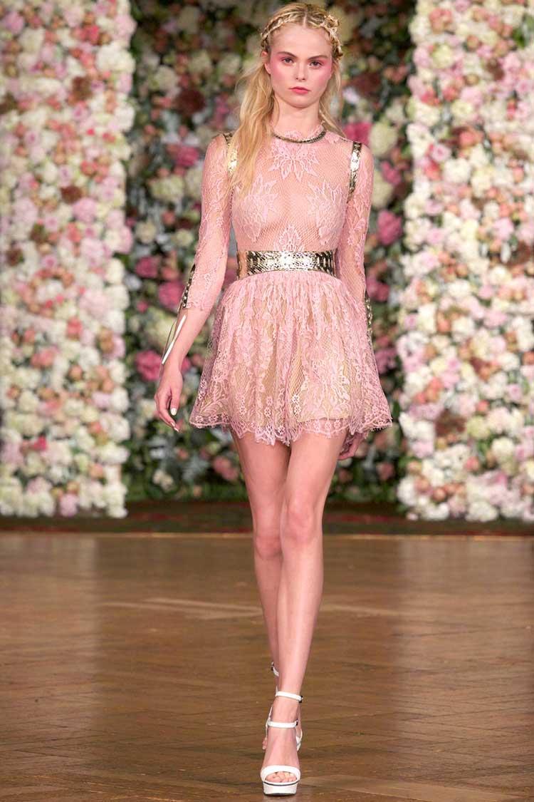 Розовое платье на выпускной бал 2016