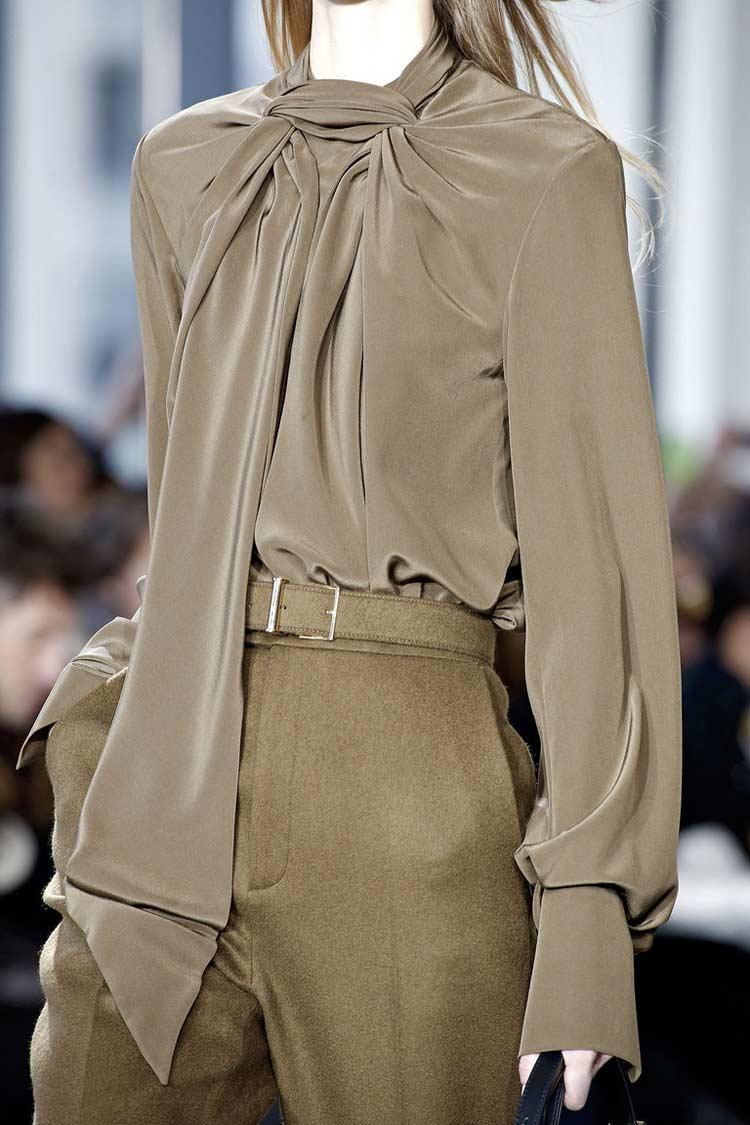 Модная блузка с шарфиком весна-лето 2016